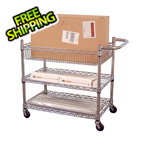 Luxor Large 3-Shelf Chrome Wire Cart
