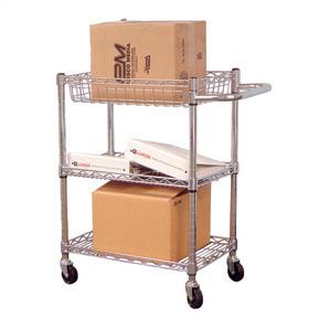Small 3-shelf Chrome Wire Cart