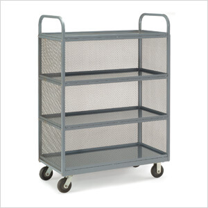 Heavy Duty Transport Cart with Mesh Sides