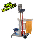 Luxor Cleaning Service Cart with Nylon Trash Bag