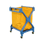 Luxor Folding Laundry Cart with Nylon Bag
