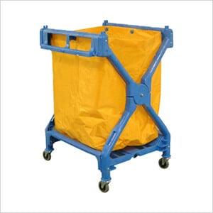 Folding Laundry Cart with Nylon Bag