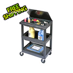 Luxor 3-Shelf Utility Cart with Lid