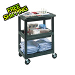 Luxor 3-Shelf Service Cart with Divider