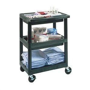 3-shelf Service Cart With Divider