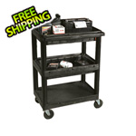 Luxor 3 Shelf Utility Cart With 2 Tub Shelves