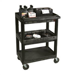 3 Shelf Utility Cart With 2 Tub Shelves