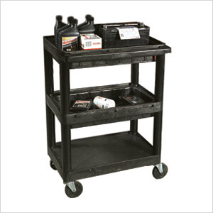 3 Shelf Utility Cart With 2 Tub Shelves