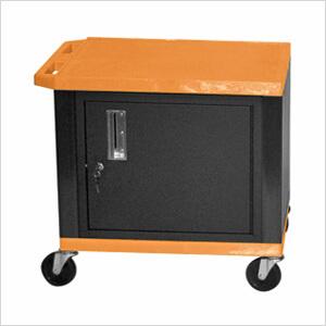 H Wilson Wt26orc2e B Orange Tuffy Cart Orange Audio