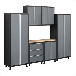 Superbe 24 Gauge 7 Piece Garage Cabinet Set