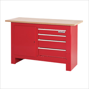 4-Drawer Heavy-Duty Workbench