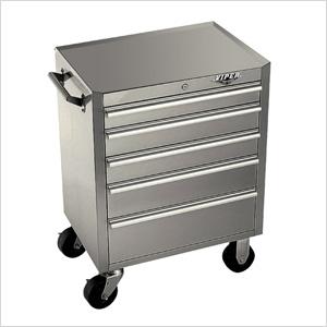 26 5 Drawer Stainless Steel Rolling Cabinet