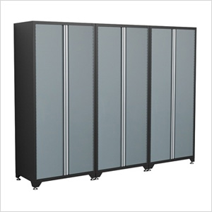 3 X 18 Gauge Grey Storage Lockers