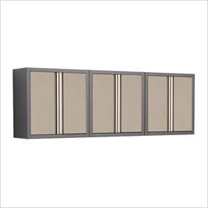 Good 3 X Taupe 18 Gauge Garage Wall Cabinets