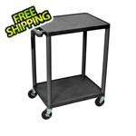 Luxor Endura Console Cart with 2 Shelves