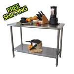 "Trinity EcoStorage 48"" NSF Stainless Steel Table"