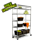 Trinity EcoStorage 6-Tier NSF Wire Shelving Rack