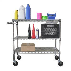3-tier Chrome Cart