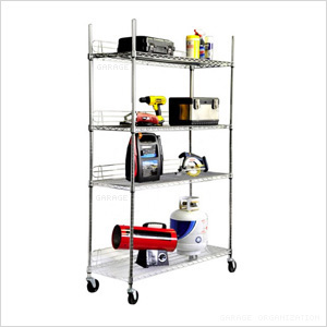 EcoStorage 4-Tier NSF Wire Shelving Rack
