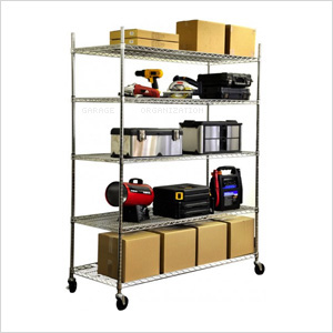 5-Tier Commercial Duty XL Shelving Rack