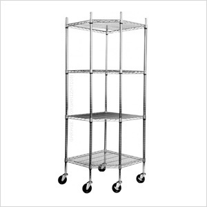 EcoStorage 4-Tier Corner Shelving Rack