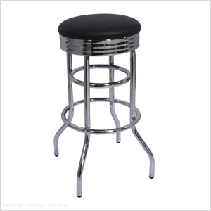 Chrome Swivel Barstool