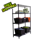 Trinity 4-Tier Bronze Shelving Rack