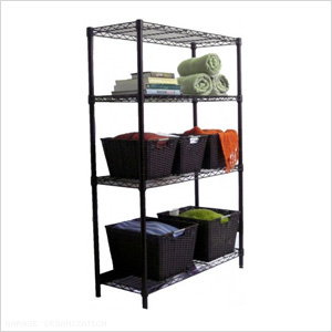 4-Tier Bronze Shelving Rack