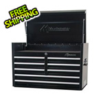 Montezuma 36-Inch 8-Drawer Top Chest Toolbox (Black)