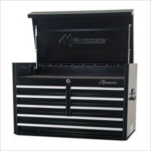 36-Inch 8-Drawer Top Chest Toolbox (Black)