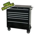 Montezuma 36-Inch 6-Drawer Rolling Tool Cabinet (Black)