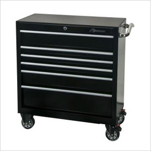 36-Inch 6-Drawer Rolling Tool Cabinet (Black)