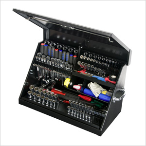 30-Inch Black Portable Toolbox (Weather Resistant)