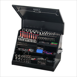 26-Inch Black Portable Toolbox (Weather Resistant)
