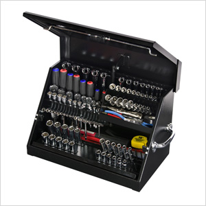 22.5-Inch Black Portable Toolbox (Weather Resistant)
