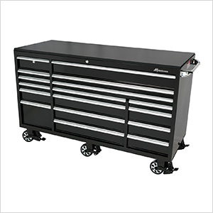 72-Inch 17-Drawer Roller Tool Cabinet (Black)