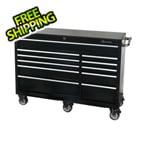 Montezuma 56-Inch 11-Drawer Roller Tool Cabinet (Black)
