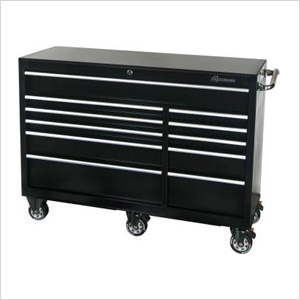 56-Inch 11-Drawer Roller Tool Cabinet (Black)