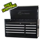 Montezuma 41-Inch 8-Drawer Top Chest Toolbox (Black)
