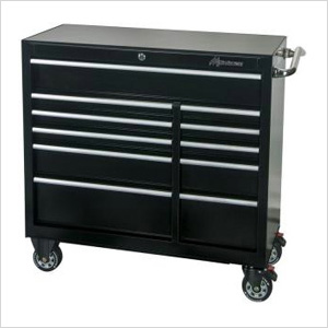 41-Inch 11-Drawer Roller Tool Cabinet (Black)