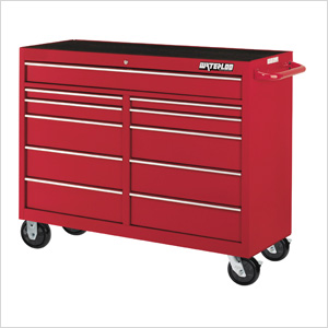 52-Inch 11-Drawer Tool Cabinet with Drawer Liners and Upgraded Casters