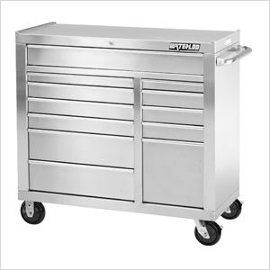 41-Inch 11-Drawer Tool Cabinet with Drawer Liners and Upgraded Casters