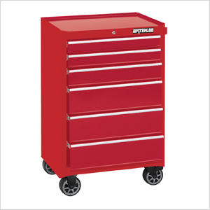 26-Inch 6-Drawer Tool Cabinet with Liners and Upgraded Casters