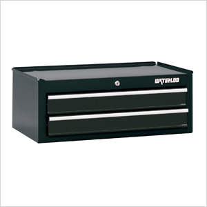 26-Inch Black 2-Drawer Intermediate Tool Chest with Liners
