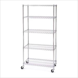 36-Inch 5-Shelf Shelving System