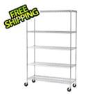 Seville Classics 48-Inch 5-Shelf Shelving System