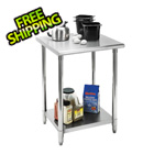 "Trinity EcoStorage 24"" NSF Stainless Steel Table"