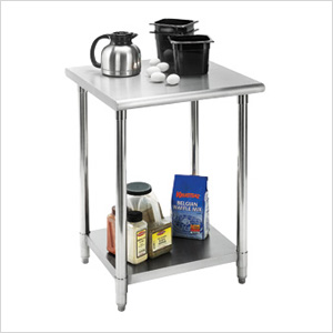 "EcoStorage 24"" NSF Stainless Steel Table"