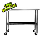 "Trinity 48"" NSF Stainless Steel Table with Wheels"