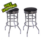 Trinity Chrome Swivel Barstool (2-Pack)